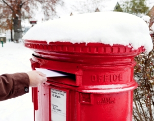 Postbox in Snow Christmas Post