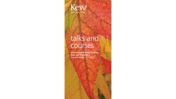 Talks and courses brochure cover