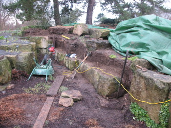 Rock removed to allow renovation work