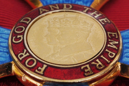 New Year Honour CBE medal