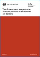The Government response to the Independent Commission on Banking [Cm 8252]