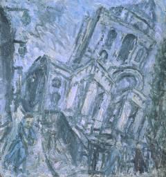 Leon Kossoff, Christ Church, Spitalfields, Morning, 1990