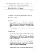 Circular 07/09: Protection of World Heritage Sites