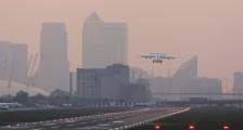 Aviation plane London city airport