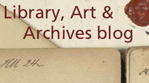 Montage of items from Kew's Library, Art and Archives collections