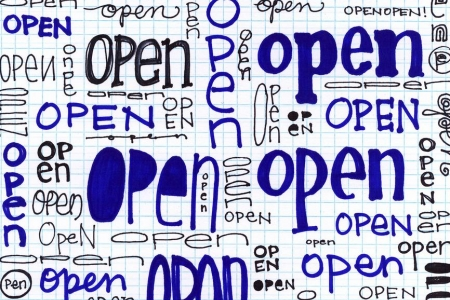 the word open written multiple times, credit: opensourceway