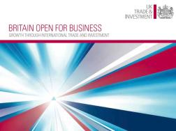 Britain Open for Business – front cover