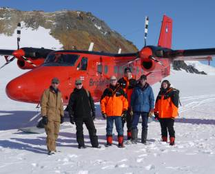 David Willetts and the British Antarctic Survey team in Antarctica