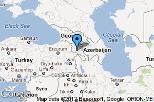 map of Yerevan, Armenia