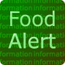 Food Alert For Information on a green background