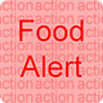 Food Alert For Action on a red background