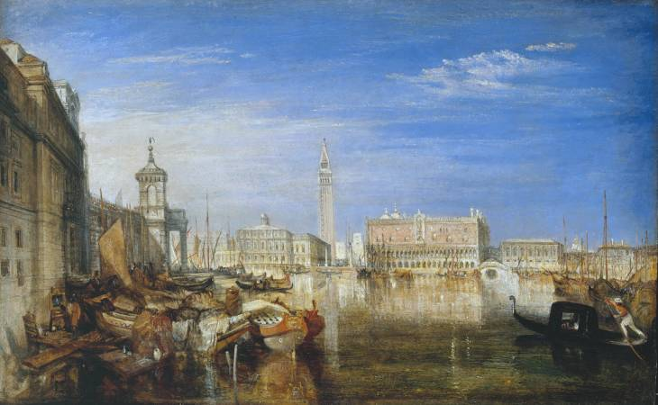 Joseph Mallord William Turner, 'Bridge of Sighs, Ducal Palace and Custom-House, Venice: Canaletti Painting' exhibited 1833