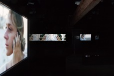 An installation view of Doug Aitken's Migration 2008