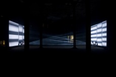 Lis Rhodes' film installation Light Music in the oil tanks at Tate Modern