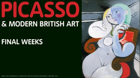 Picasso and Moern British Art final weeks banner