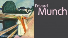 Edvard Munch exhibition banner