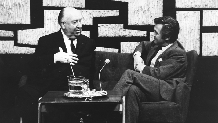 Alfred Hitchcock and Bryan Forbes at the NFT