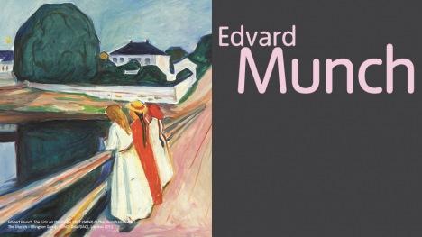 Edvard Munch exhibition banner