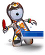 table-tennis mascot