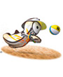 beach-volleyball mascot