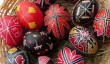 colourfully painted Easter eggs