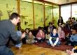 man telling stories to children