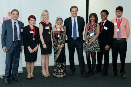 Nick Hurd with UpRising graduates. Photo: UpRising.