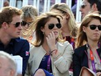 Royals watch Eventing Cross Country