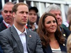 Prince William and Catherine watch Show Jumping