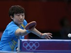 Tianwei Feng of Singapore wins singles table tennis