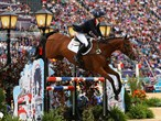 Zara Phillips and High Kingdom clear a fence
