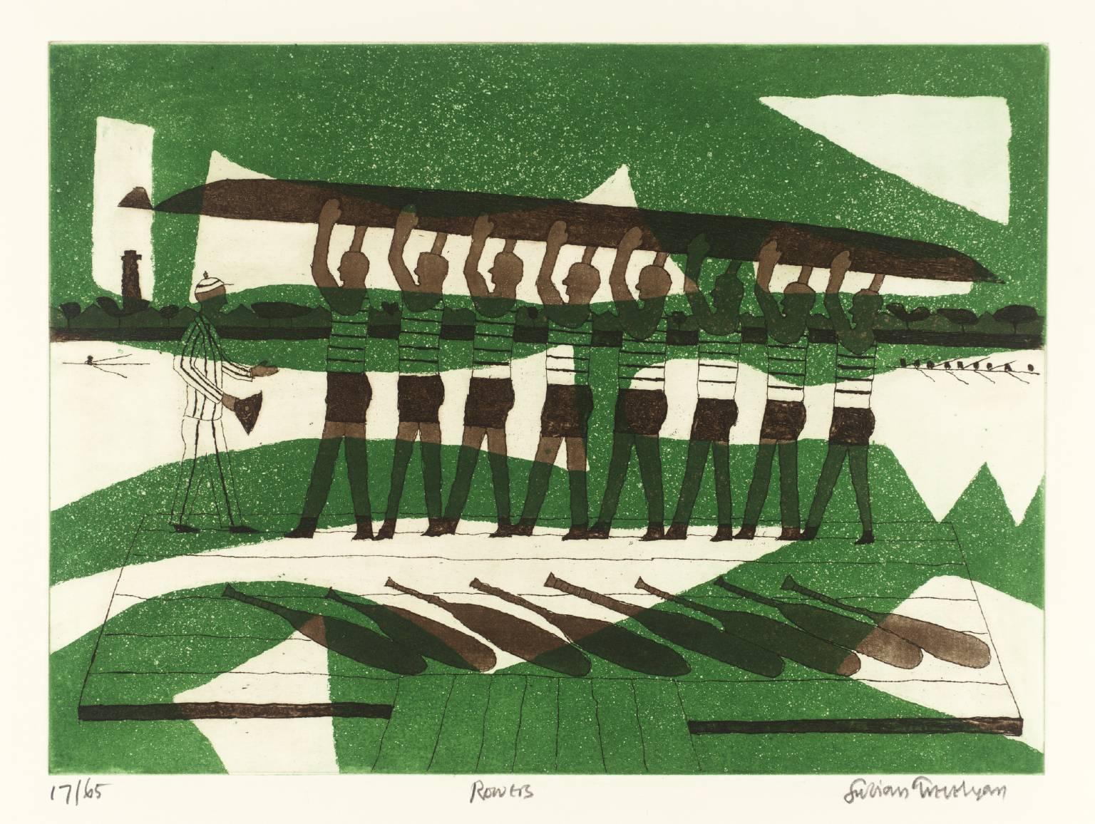Julian Trevelyan, 'Rowers' 1972