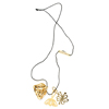 Charming 18k gold necklace - flower, bee, pod