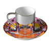 Beautiful Amore anamorphic cup and saucer