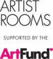 ARTIST ROOMS supported by the ArtFund logo