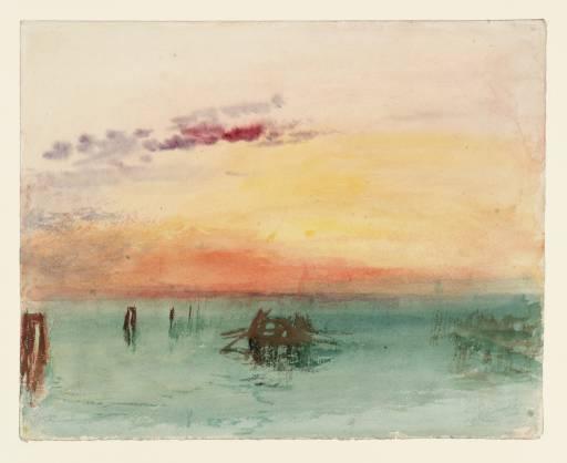 Joseph Mallord William Turner, 'Venice: Looking across the Lagoon at Sunset' 1840