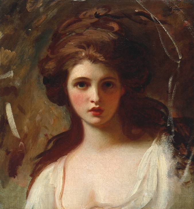 George Romney, 'Lady Hamilton as Circe' circa 1782