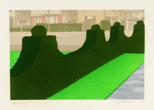 Ivor Abrahams, 'Privacy Plots V: Hedge and Street' 1970