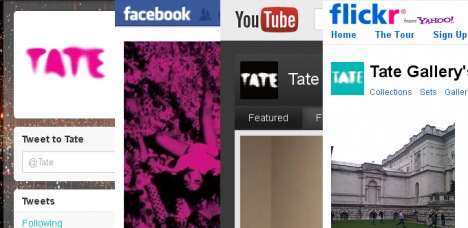 Tate social media pages