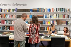 Visitors using the facilities in the Hyman Kreitman Reading Rooms, Tate Britian