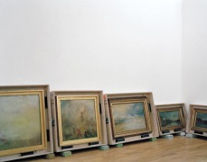 Paintings from the Turner Bequest awaiting installation at Tate Britain