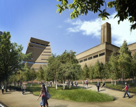 A concept view of the new building from the south-east