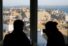 View of the old town from the Café at Tate St Ives