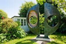 Barbara Hepworth Two Forms (Divided Circle) 1969 in the Barbara Hepworth Sculpture Garden