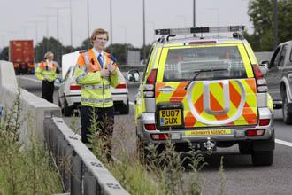Traffic Officer at breakdown