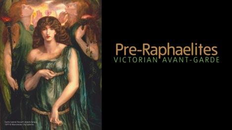 Pre-Raphaelites Victorian Avant-Garde Banner