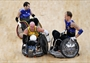 Chris Bond (#10) of Australia in action at the London 2012 International Invitational Wheelchair Rugby Tournament