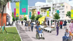 Artist's impression of the Olympic Village