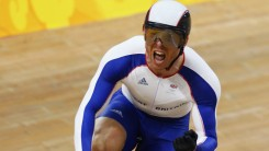 Chris Hoy on bike