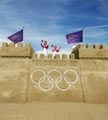 Giant sandcastle on Weymouth beach: Link to